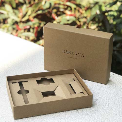 Bareaya Custom Kraft Rigid Box with Insert