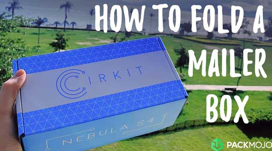How to Fold a Corrugated Mailer Box