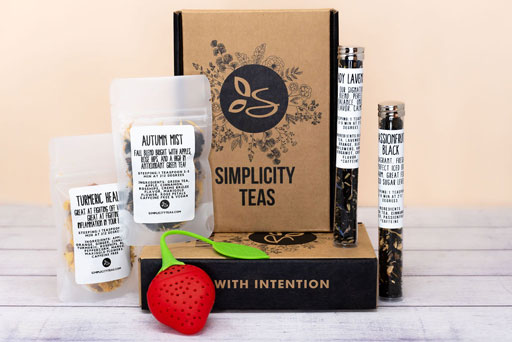 Simplicity Teas Custom Kraft Mailer Boxes