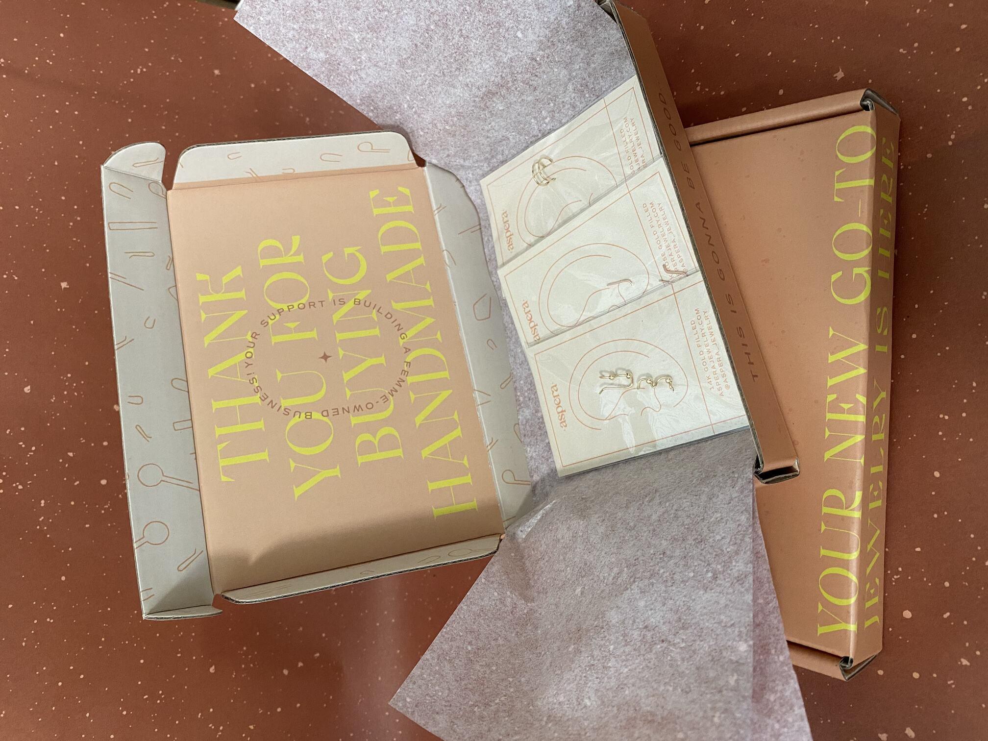 Aspera Jewelry Custom Corrugated Mailer Box for Jewelry