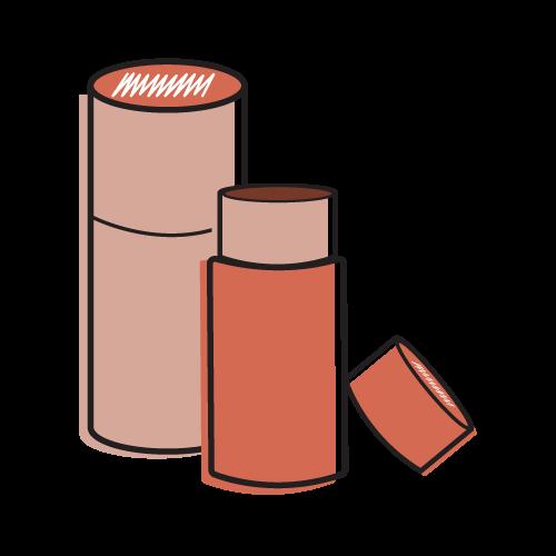 Custom Cardboard Tubes Mockup