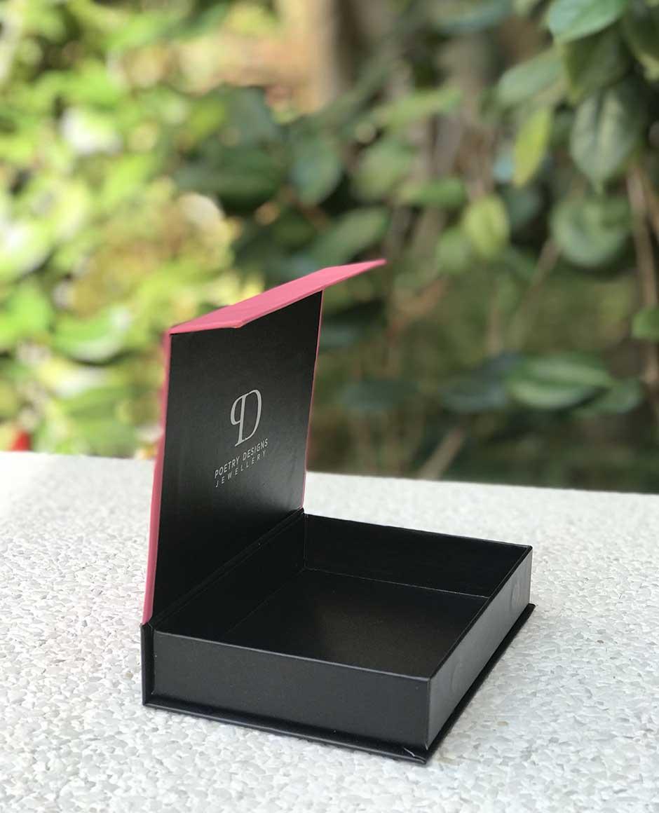 Poetry Designs Custom Rigid Box with Magnet Jewellery