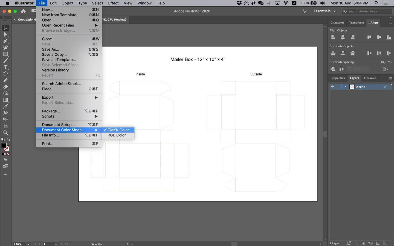 How to Set CMYK Color Mode in Adobe Illustrator