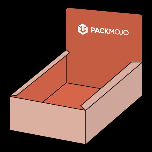 Custom Display Box with Dust Flaps Mockup