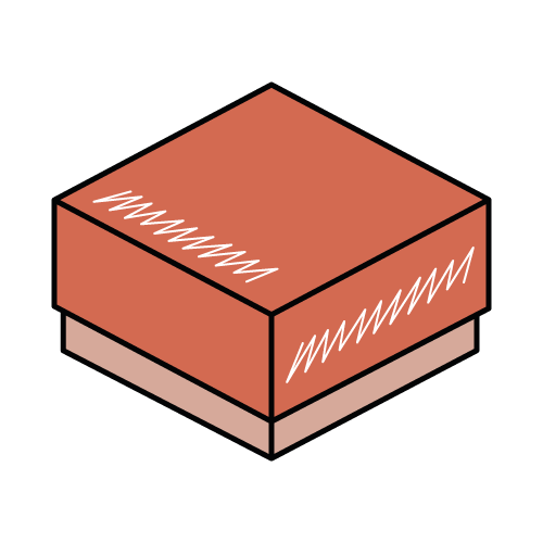 Foldable Two Piece Lid and Base Box Icon