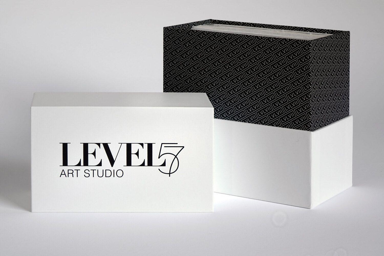LEVEL57 Art Studio Custom Shoulder and Neck Rigid Box Opened