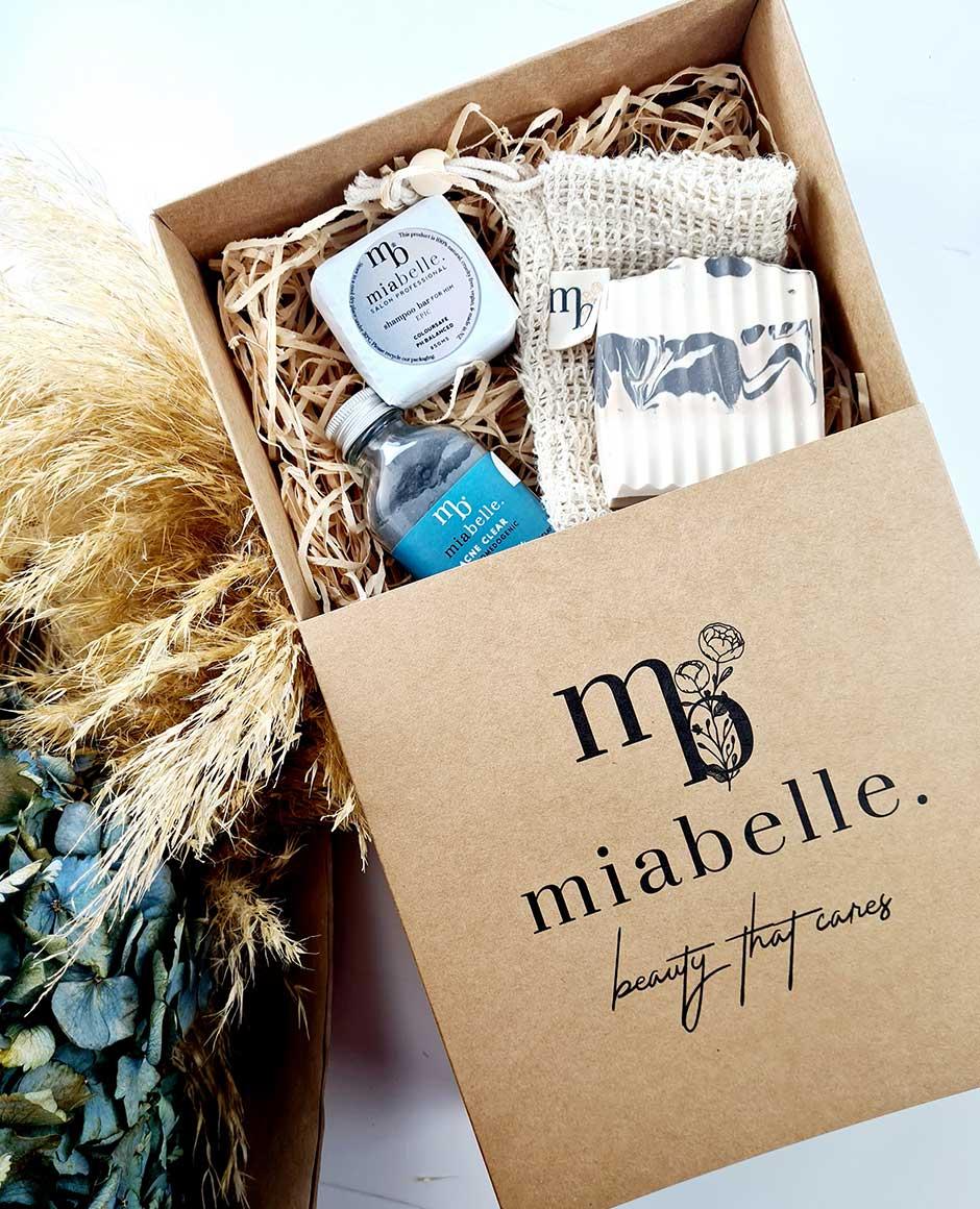 Mia Belle Custom Printed Kraft Tray and Sleeve Boxes