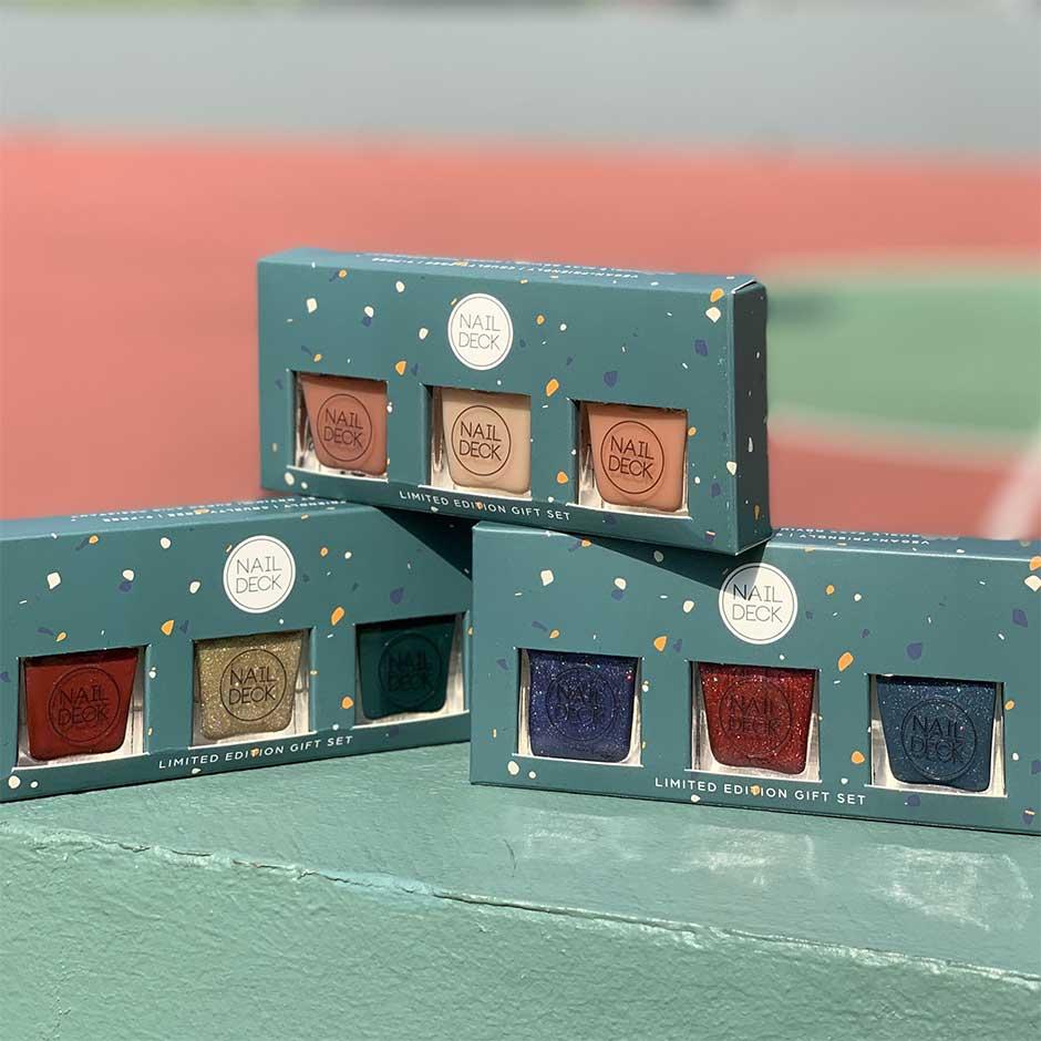 Nail Deck Custom Folding Carton Boxes with Windows