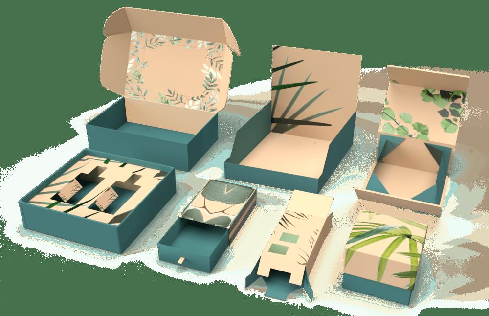 PackMojo Custom Printed Boxes and Packaging Mockup