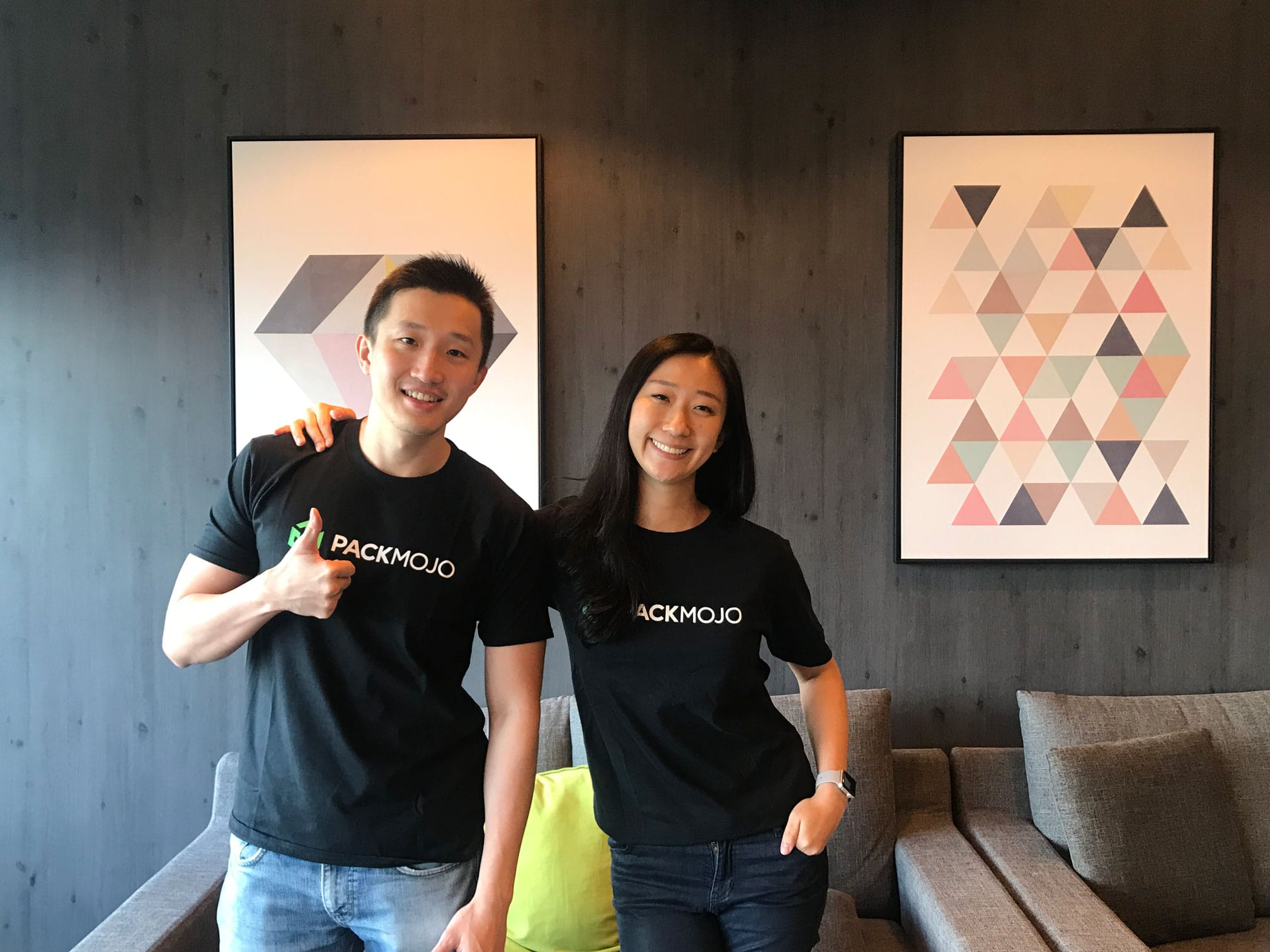 PackMojo Founders - Vincent Choi and Wendy Chan