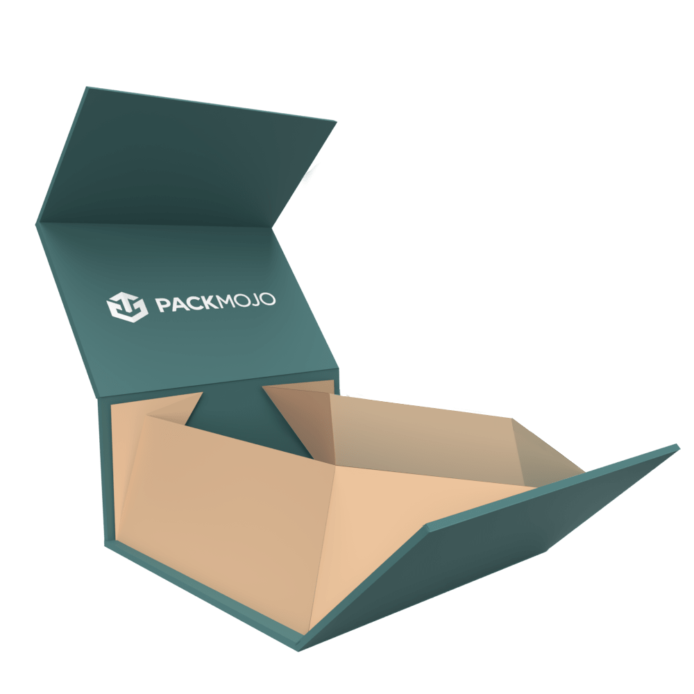 Collapsible Magnetic Lid Rigid Box Mockup PackMojo
