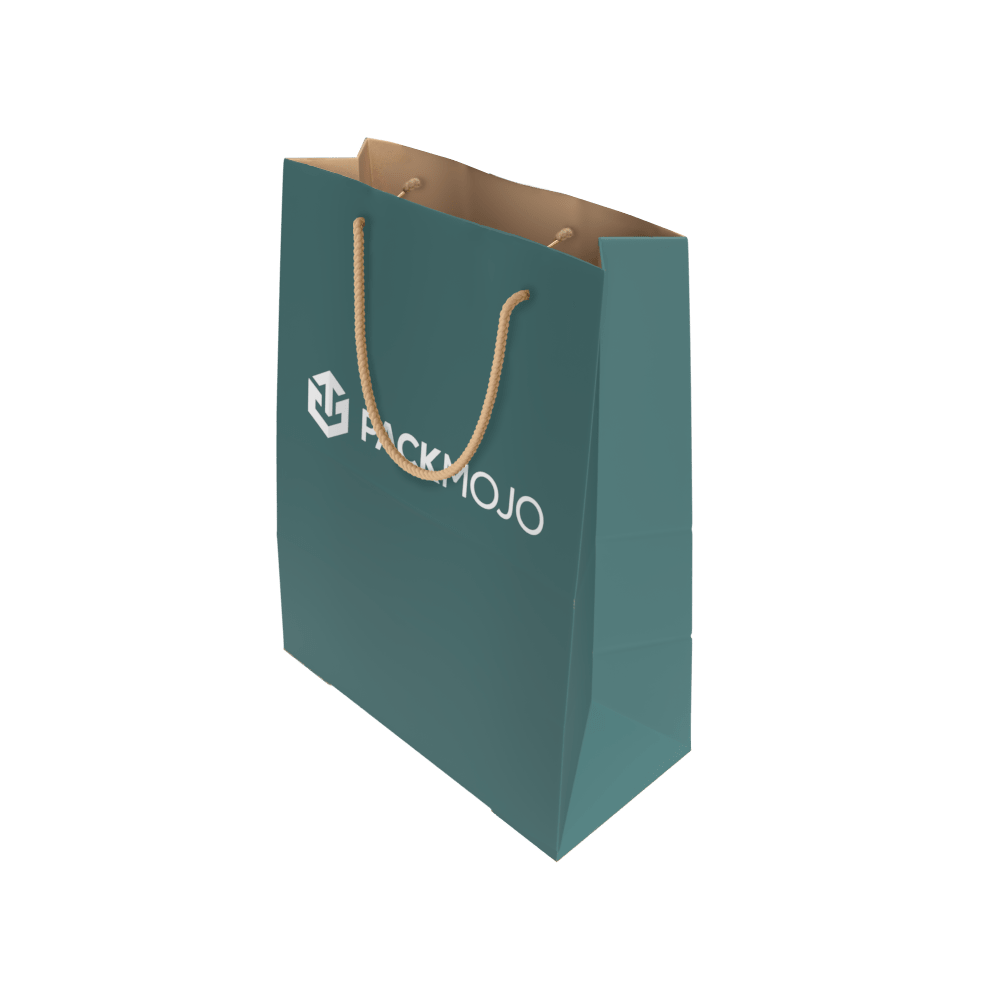 Custom Paper Bag with Rope Handles Mockup PackMojo