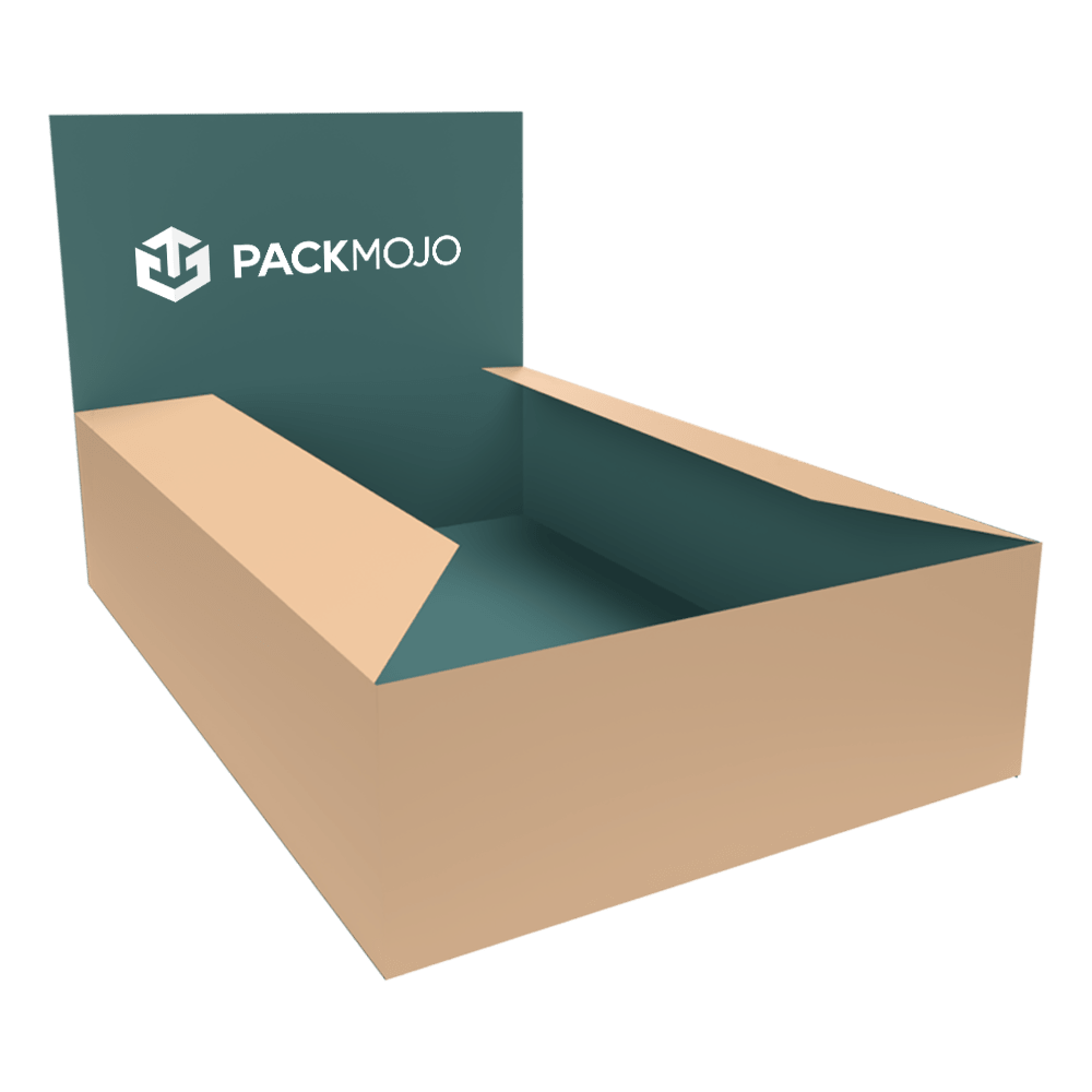 Display Box with Dust Flaps Mockup PackMojo