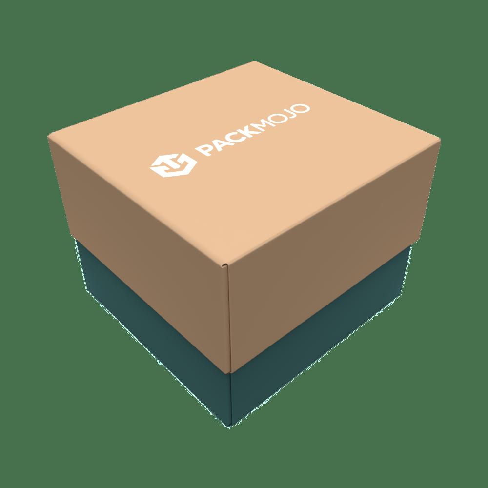 Foldable Lid and Base Box Mockup PackMojo