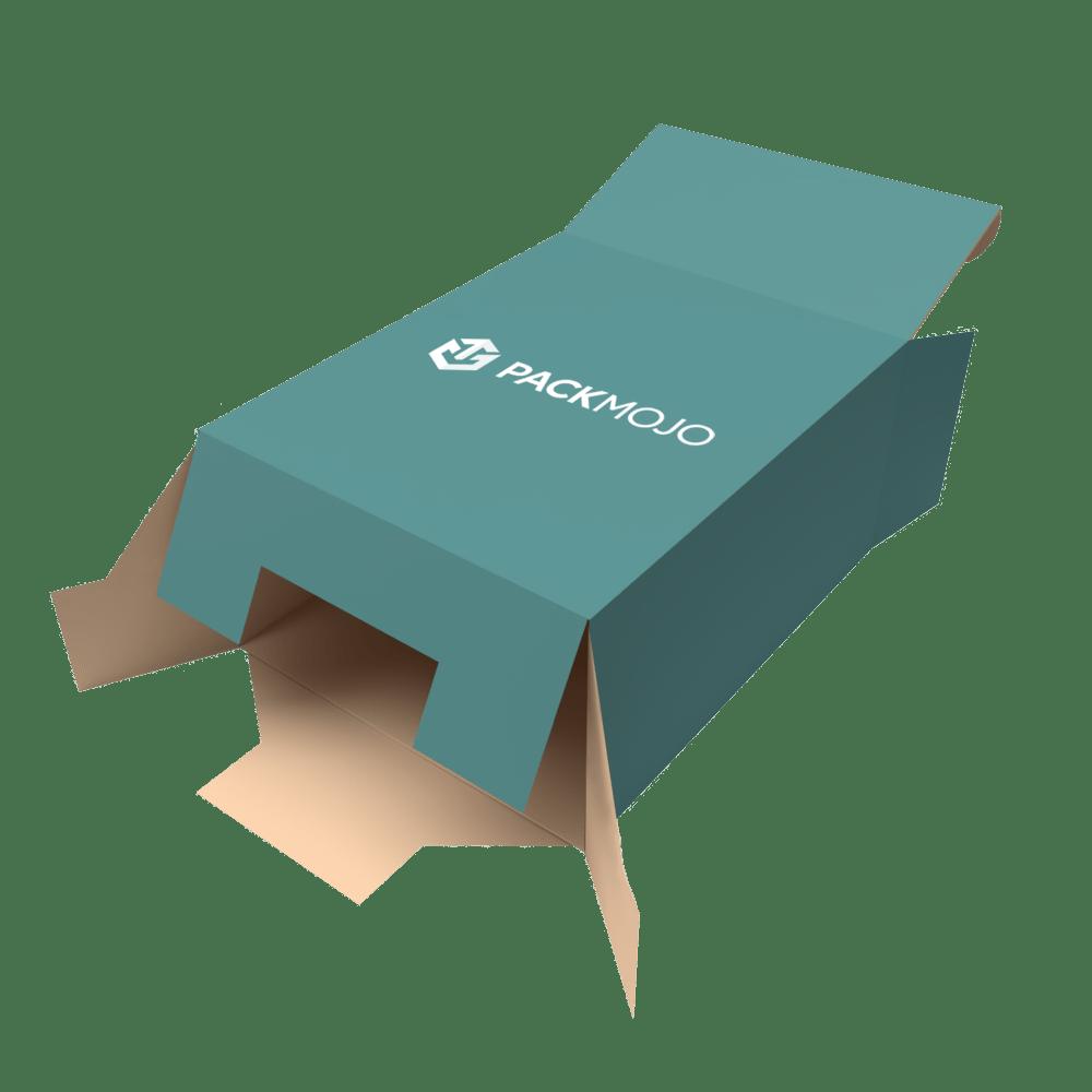 Folding Carton Box Snap Lock Bottom Mockup PackMojo
