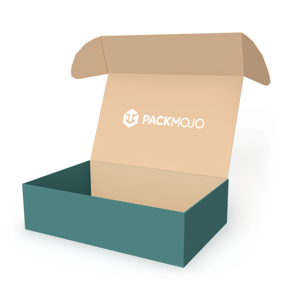 Mailer Box without Dust Flaps Mockup PackMojo