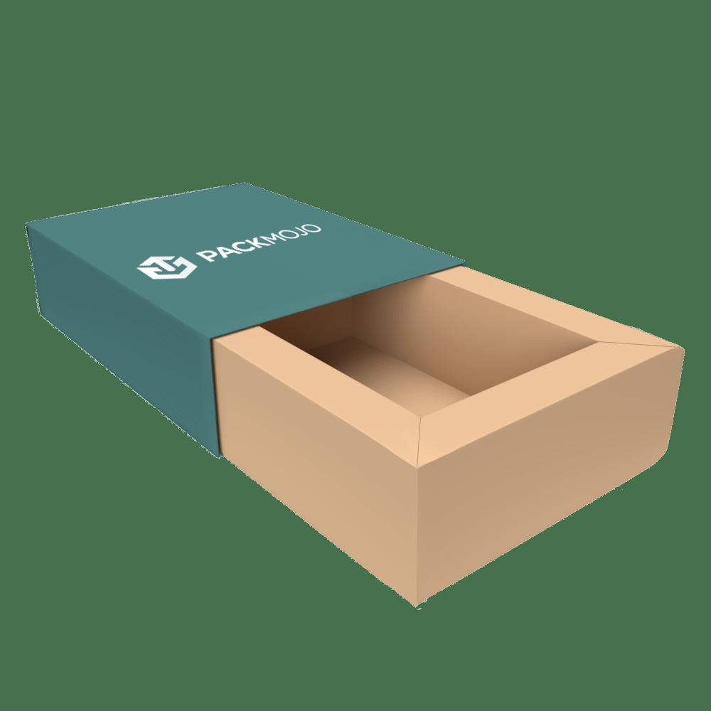 Foldable Tray and Sleeve Box with Thick Walls Mockup PackMojo