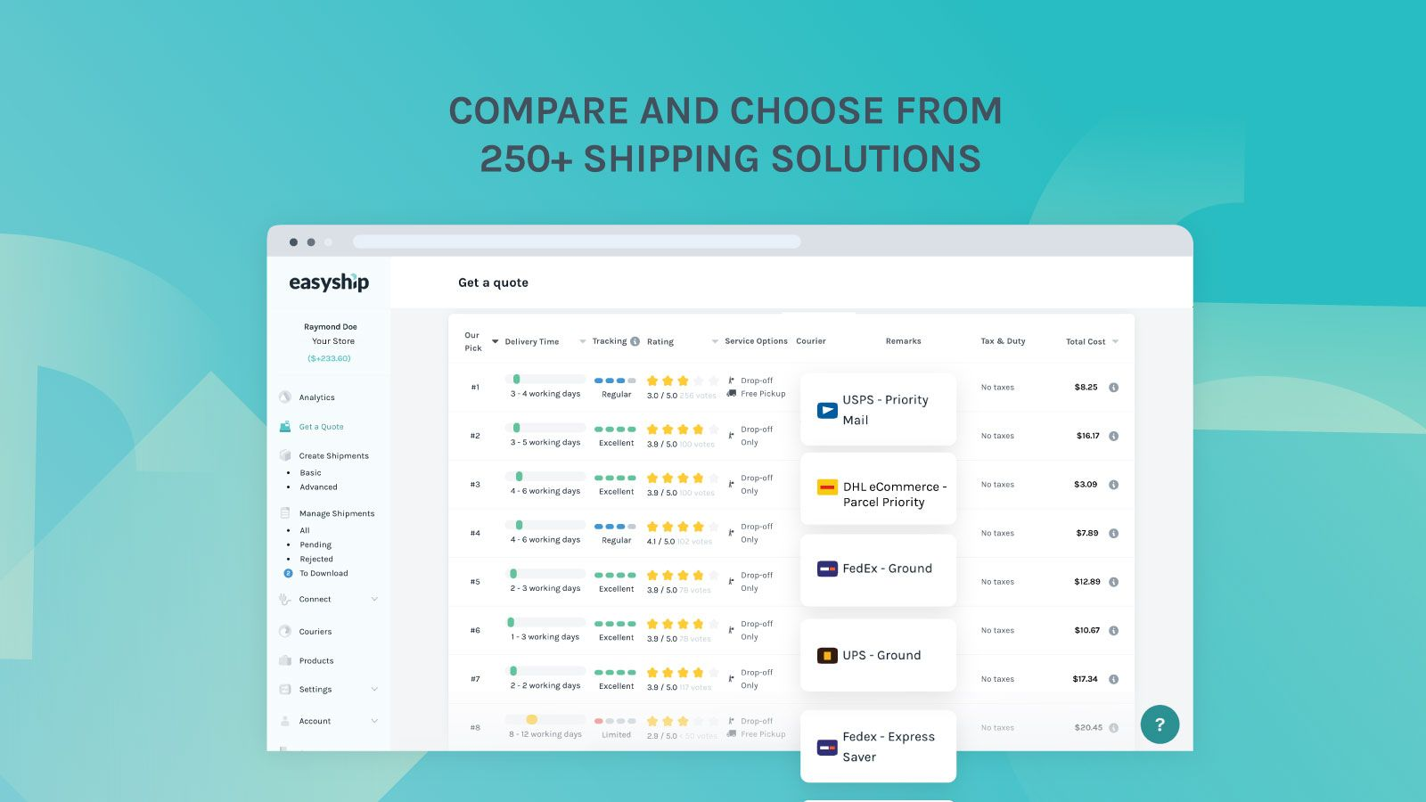 Easyship - Get a Quote