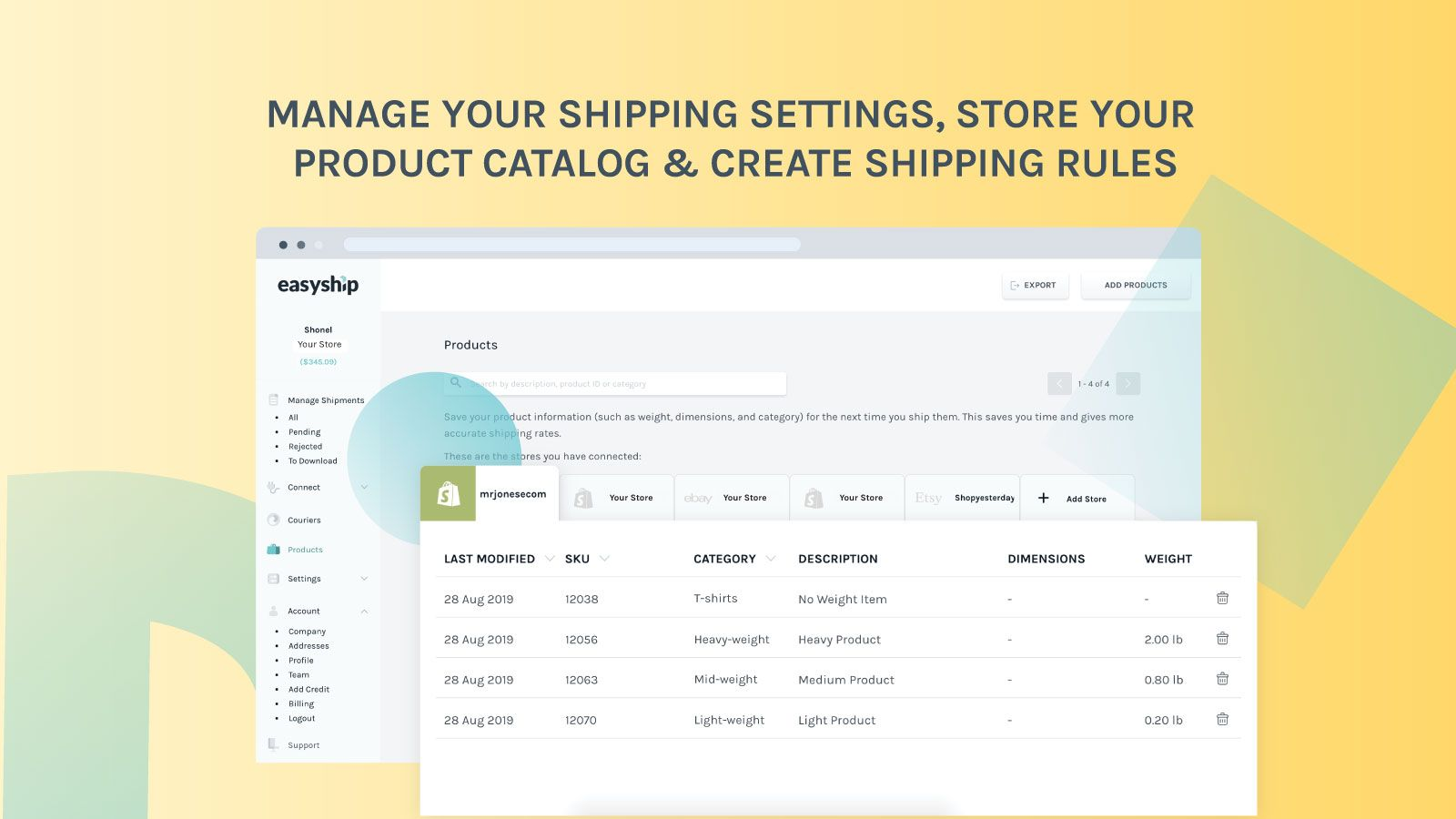 Easyship - Products