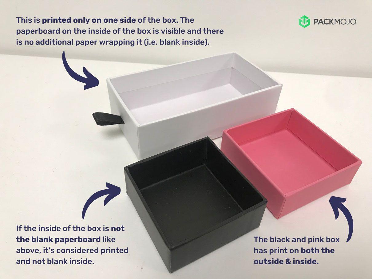 Rigid Box Inside Printing or Blank Example
