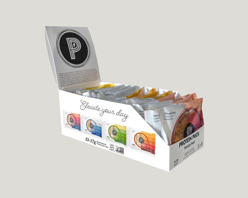 Protein Puck Custom Display Box Auto Bottom
