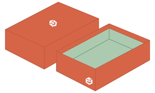 Rigid Box with Print Outside and Inside Mockup