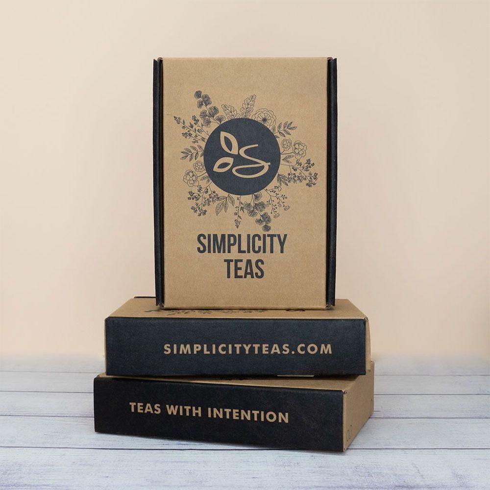 Simplicity Teas Custom Kraft Mailer Boxes