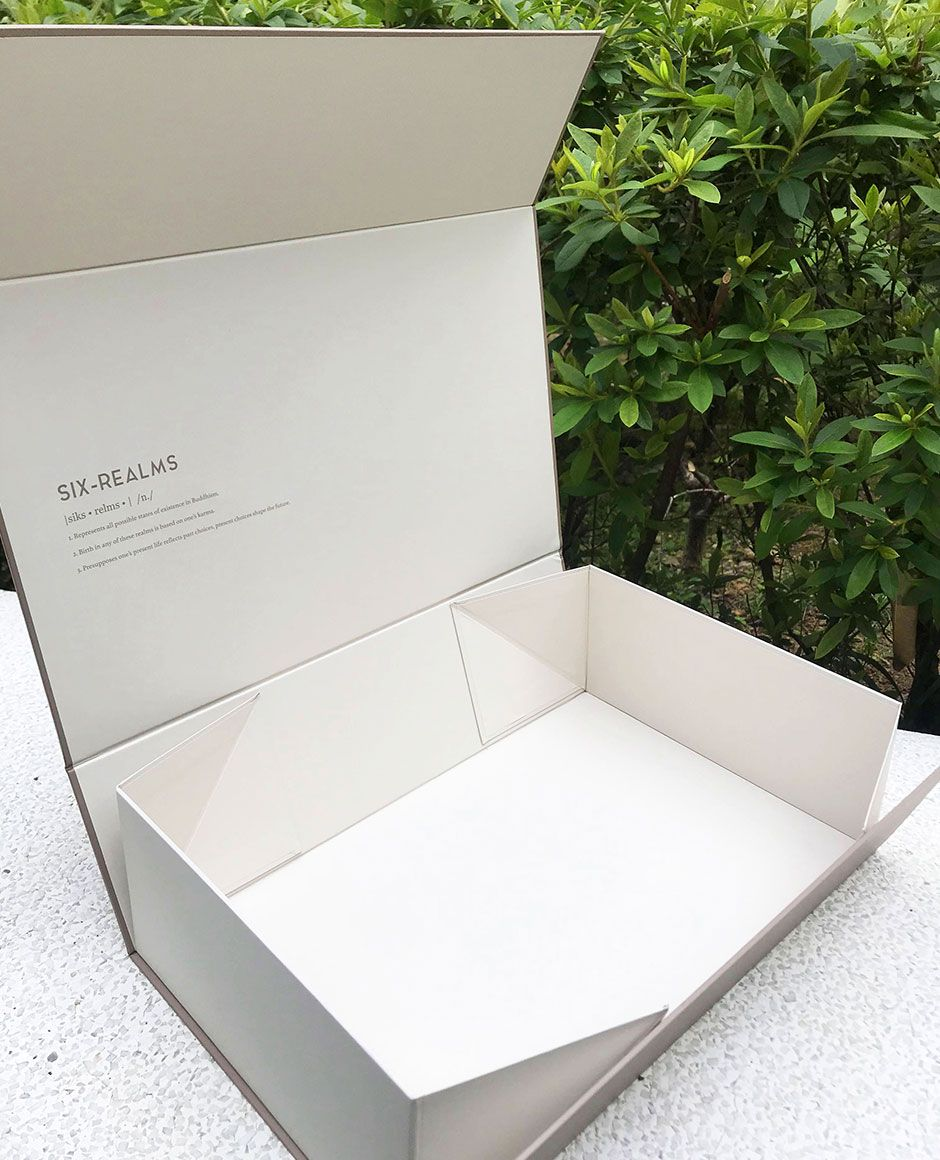 Six Realms Collapsible Rigid Box Opened