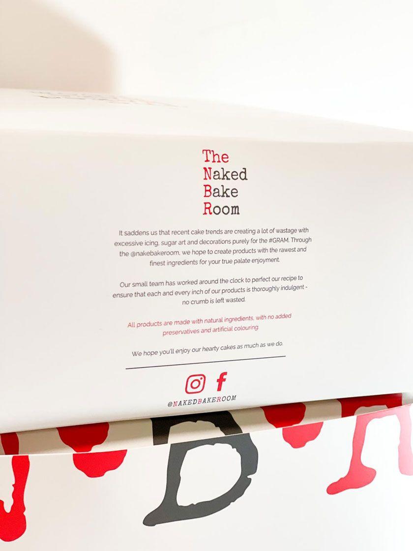 The Naked Bake Room Custom Cake Box Design
