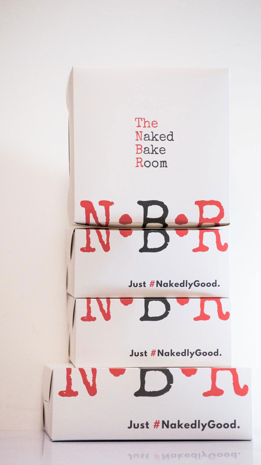 The Naked Bake Room Custom Cake Boxes Stacked